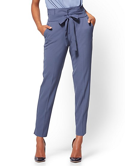 Paperbag-Waist Slim Ankle Pant - New York & Company