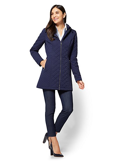 Park Avenue Hooded Quilted Jacket - New York & Company