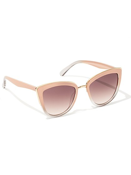 Pastel Cat-Eye Sunglasses  - New York & Company