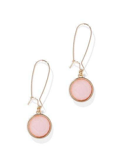 Pastel Faux-Stone Drop Earring - New York & Company