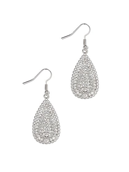Pavé Teardrop Earring  - New York & Company