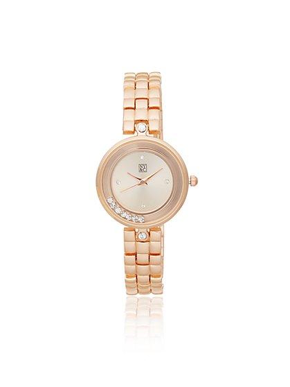 Pave Bezel-Set Watch - New York & Company