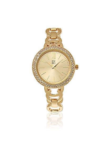 Pave Bezel Watch  - New York & Company