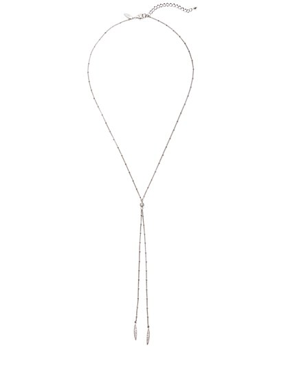Pave Bolo Necklace  - New York & Company