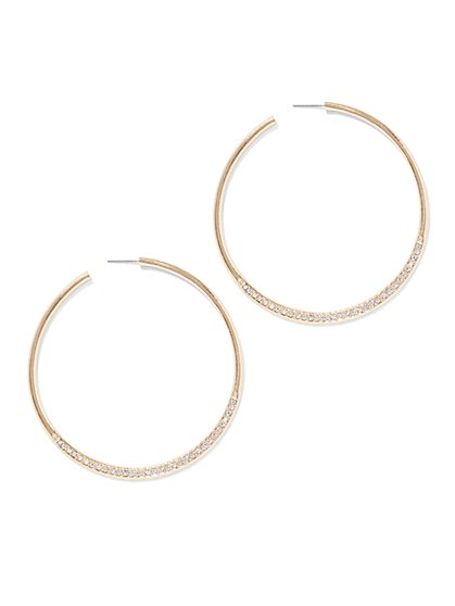 Pave Hoop Earring  - New York & Company
