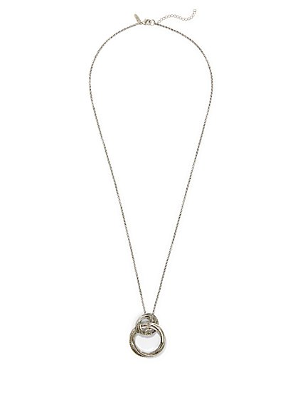 Pave Ring Pendant Necklace  - New York & Company