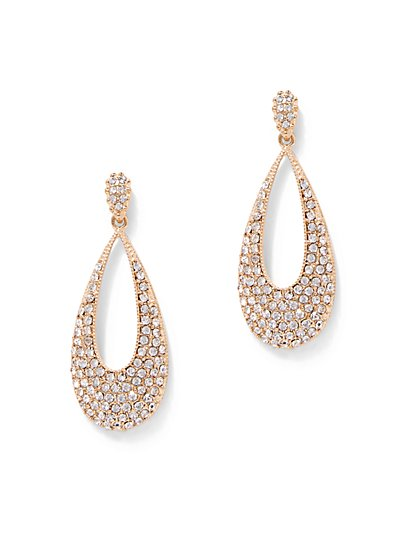 Pave Teardrop Earring  - New York & Company