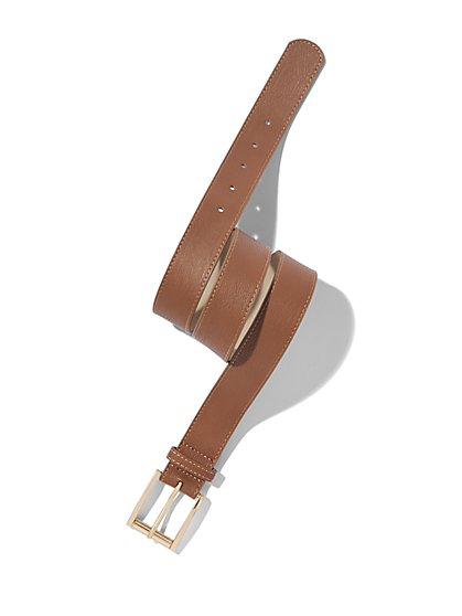 Pebblegrain Faux-Leather Belt  - New York & Company