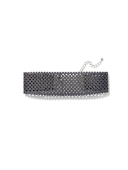 Perforated Choker Necklace  - New York & Company