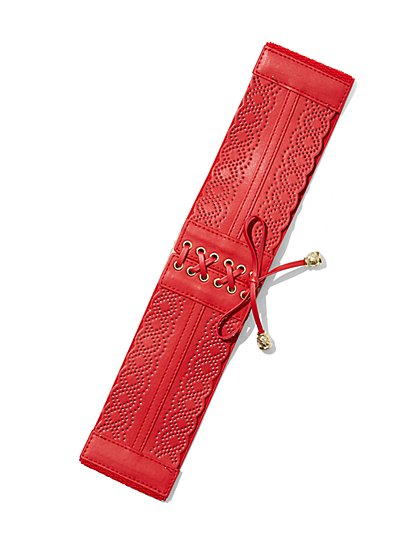 Perforated Corset Belt  - New York & Company