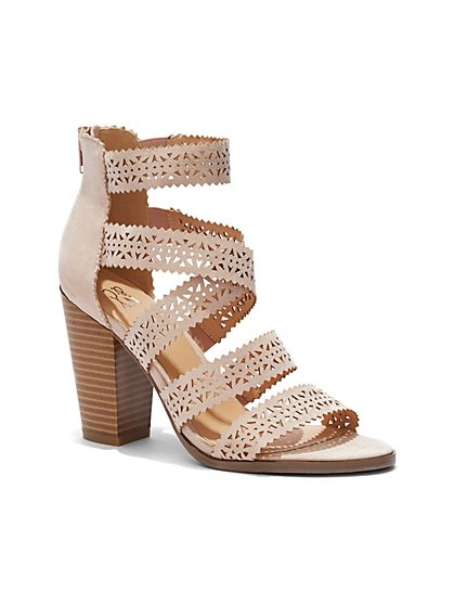 Perforated Strappy Sandal - New York & Company