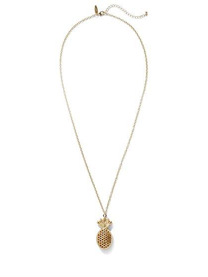 Pineapple Pendant Necklace  - New York & Company