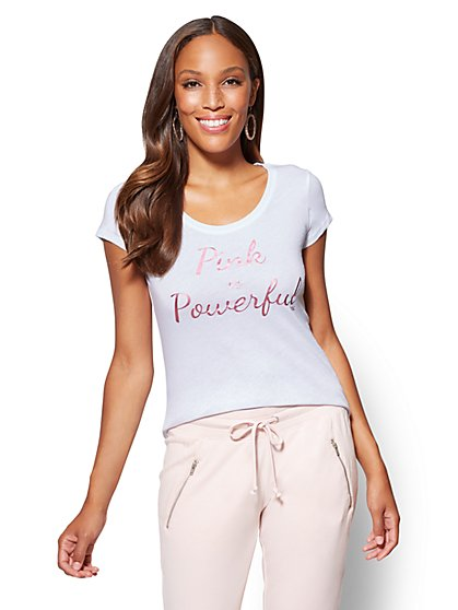 Pink is Powerful Tee - New York & Company