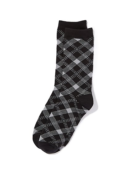 Plaid Crew Sock - New York & Company