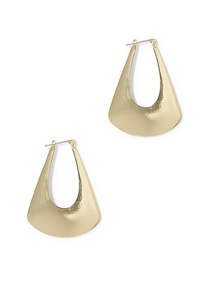 "Polished ""Door Knocker"" Drop Earring - New York & Company"