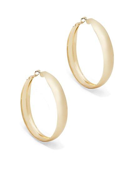 Polished Hoop Earring  - New York & Company