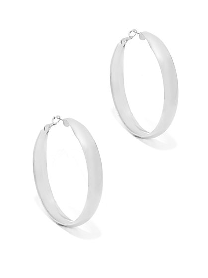 Polished Hoop Earring  - New York & Company
