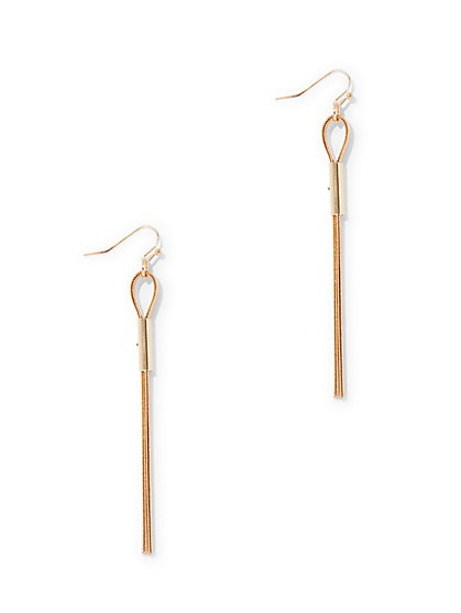 Polished Linear Drop Earring  - New York & Company