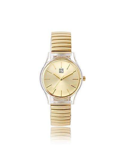 Polished Stretch-Band Watch - New York & Company
