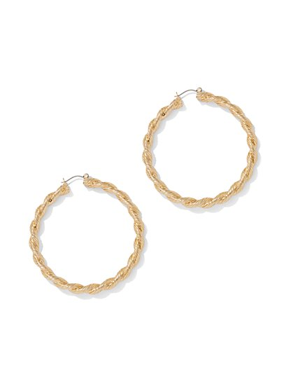 Polished Twist Hoop Earring - New York & Company