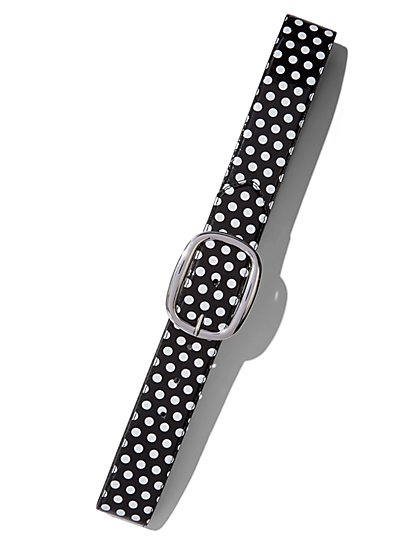 Polka-Dot Patent Belt  - New York & Company