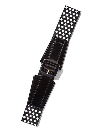 Polka-Dot Stretch Belt  - New York & Company