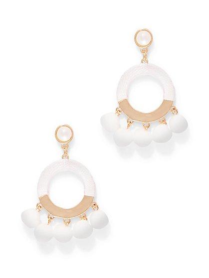 Pom Pom Hoop Drop Earring - New York & Company