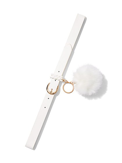 Pom-Pom Keychain Belt  - New York & Company