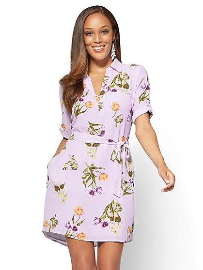 Popover Shirtdress - Floral - New York & Company