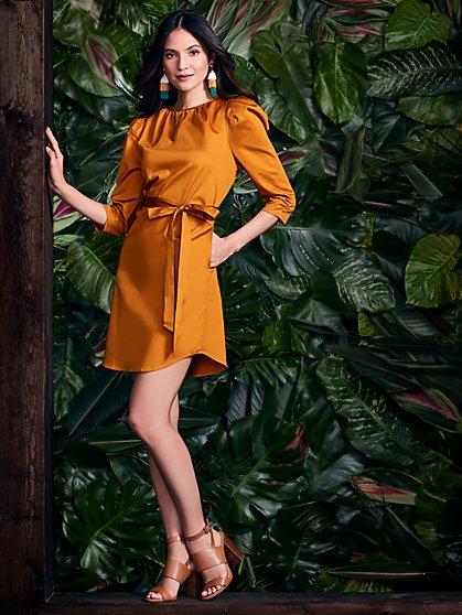 Puff-Sleeve Shift Dress - New York & Company