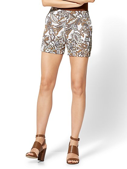 Pull-On 4 Inch Short - Paisley - New York & Company