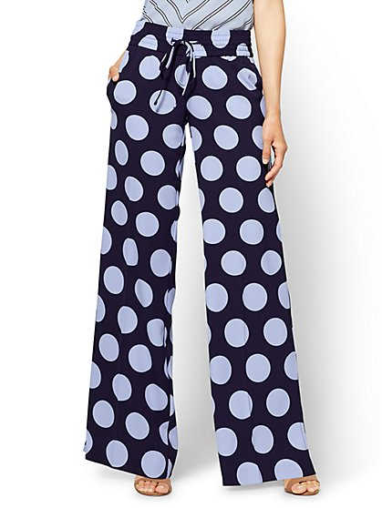 Pull-On Palazzo Pant - Polka Dot - New York & Company