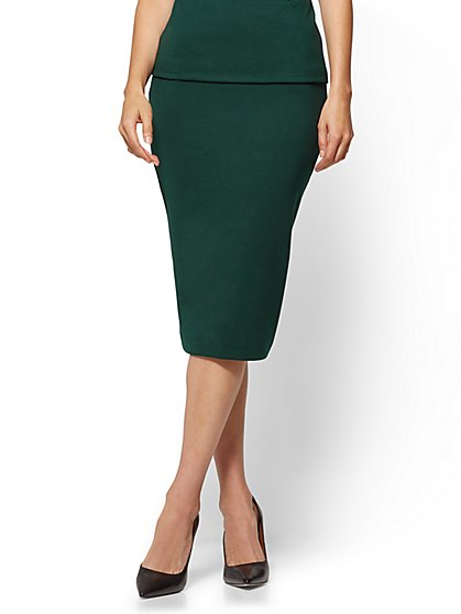 Pull-On Pencil Skirt - Ponte  - New York & Company