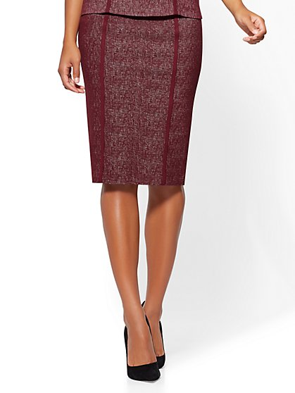 Pull-On Pencil Skirt - Wine - New York & Company