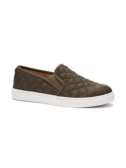 Quilted Slip-On Sneaker - Olive - New York & Company