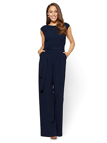 Red Belted Jumpsuit - New York & Company