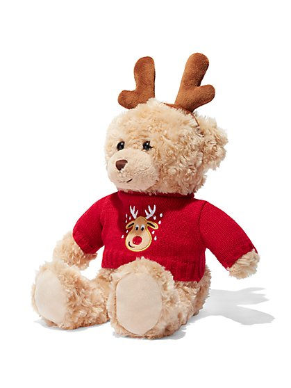 Reindeer-Sweater Teddy Bear  - New York & Company