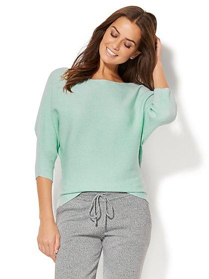 Ribbed-Knit Dolman Sweater - New York & Company
