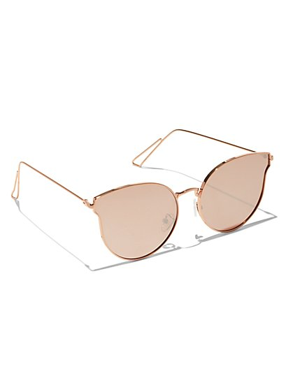 Rose Goldtone Cat-Eye Sunglasses - New York & Company