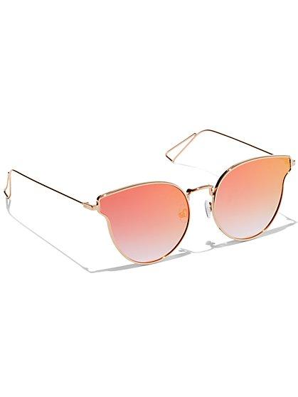 Rose Goldtone Cat-Eye Sunglasses - New York & Company