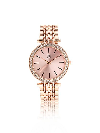 Rose Goldtone Watch  - New York & Company