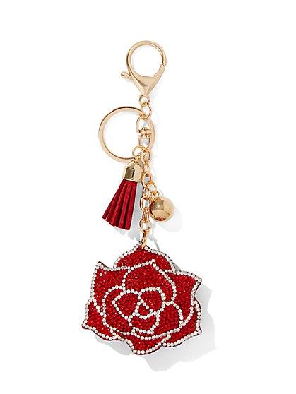 Rose & Tassel Keychain - New York & Company