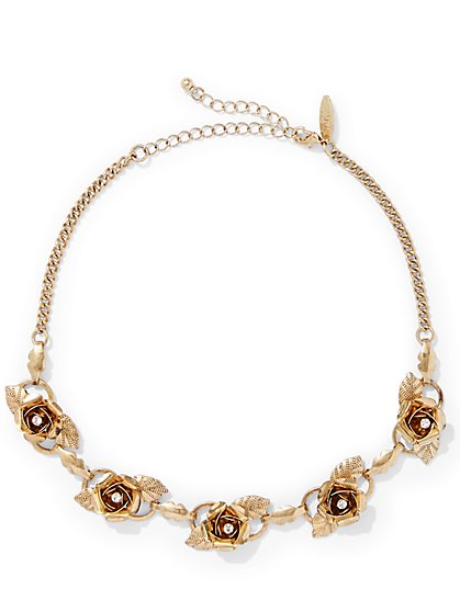 Rosette Choker Necklace  - New York & Company