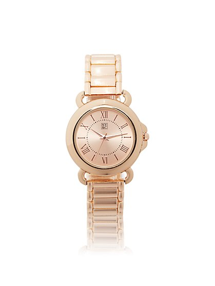 Round-Face Link Watch  - New York & Company