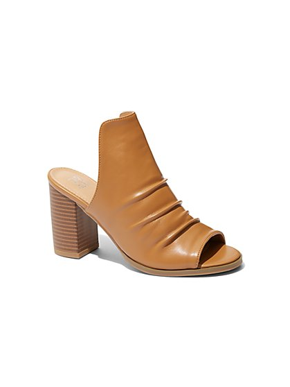 Ruched Mule Sandal - New York & Company