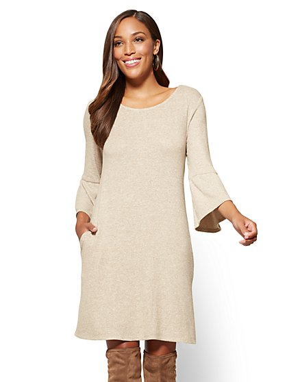 Ruffle Sleeve Swing Dress - New York & Company
