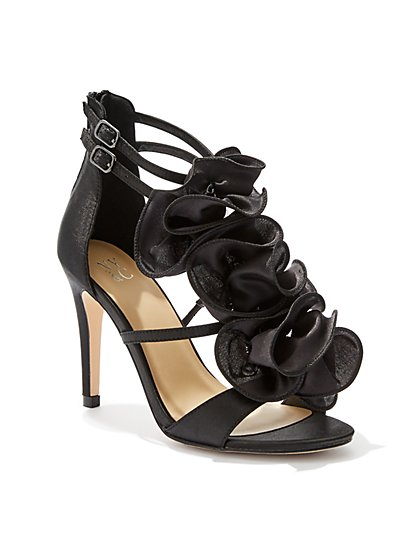 Ruffled Open-Toe Pump - New York & Company