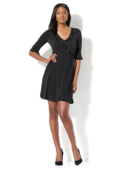 Ruffled Wrap Dress - New York & Company