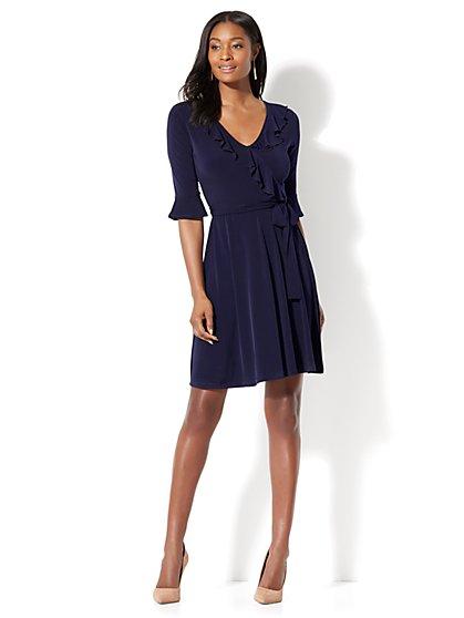 Ruffled Wrap Dress - New York & Company
