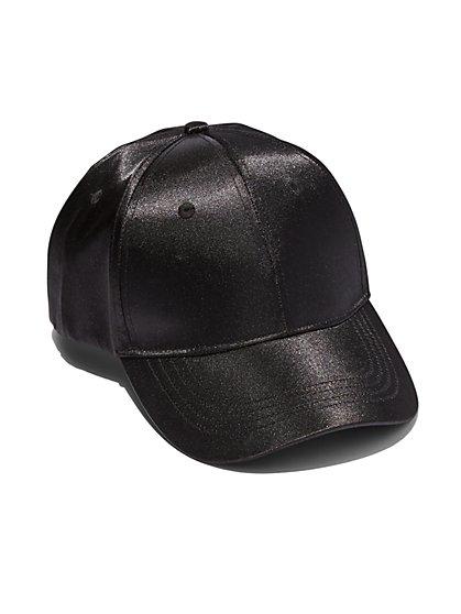 Satin Baseball Cap  - New York & Company